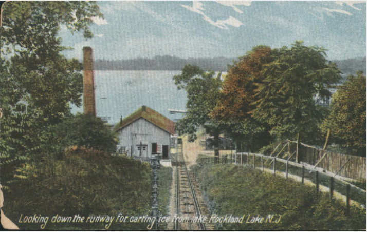 A View From The Top of The Ice Railroad at Rockland Lake as referenced at http://www.hrvh.org