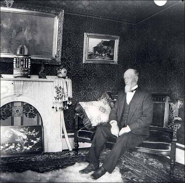 Photo of Captain Edward Penniman in the living room of his Cape Cod Home - From the National Park Service
